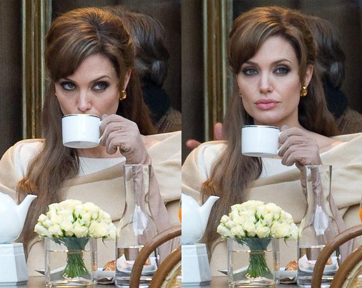 Angelina na planie nowego thrillera (ZŁA I ZIMNA?)