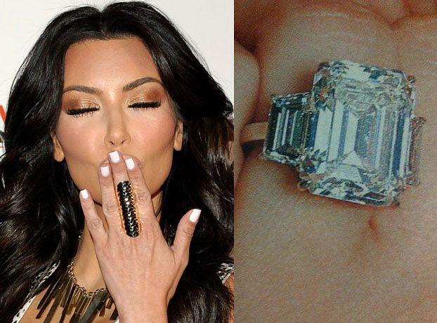 Kim dostała pierścionek za... 2 miliony dolarów!