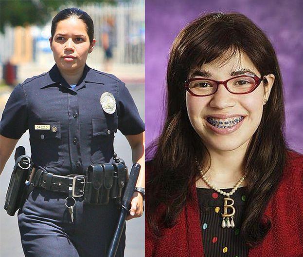 """POZNAJECIE """"Brzydulę""""? Została policjantką... (FOTO)"""
