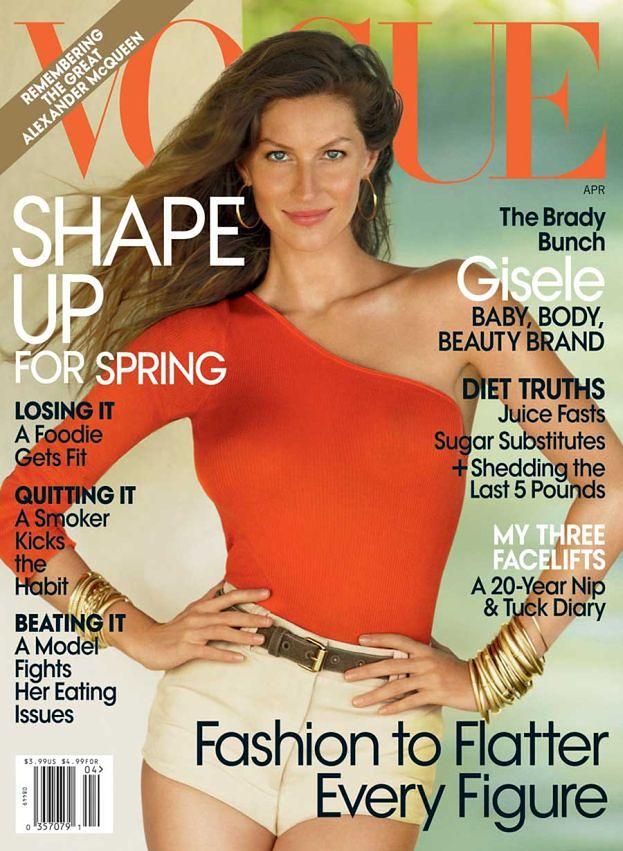 """Gisele z synkiem w """"Vogue'u""""!"""