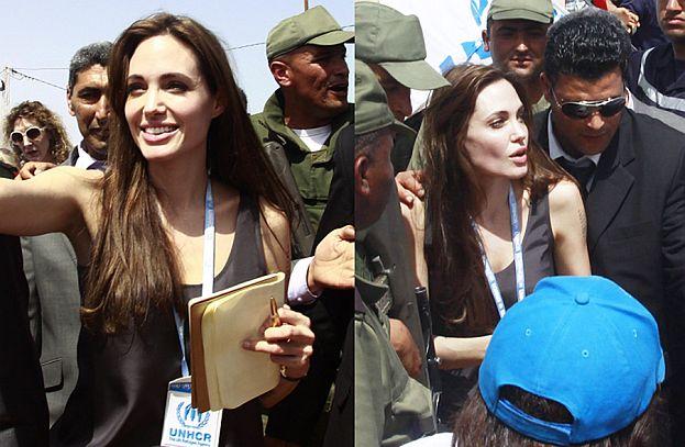 Angelina w obozie uchodźców