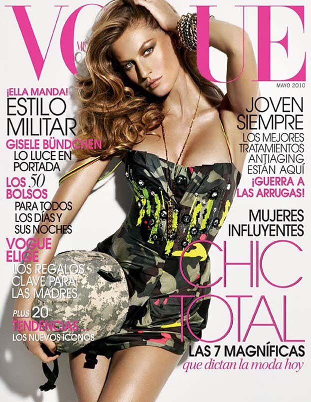 "Kolejny ""militarny"" Vogue z Bundchen!"