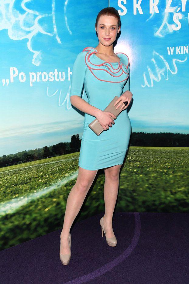 Kamińska w turkusowej sukience (Ładnie?)