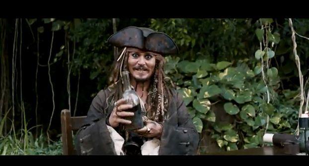 """Depp w reklamówce """"Piratów z Karaibów 4""""!"""