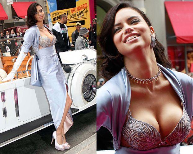 Adriana Lima w staniku ZA 2 MILIONY! (ZDJĘCIA)