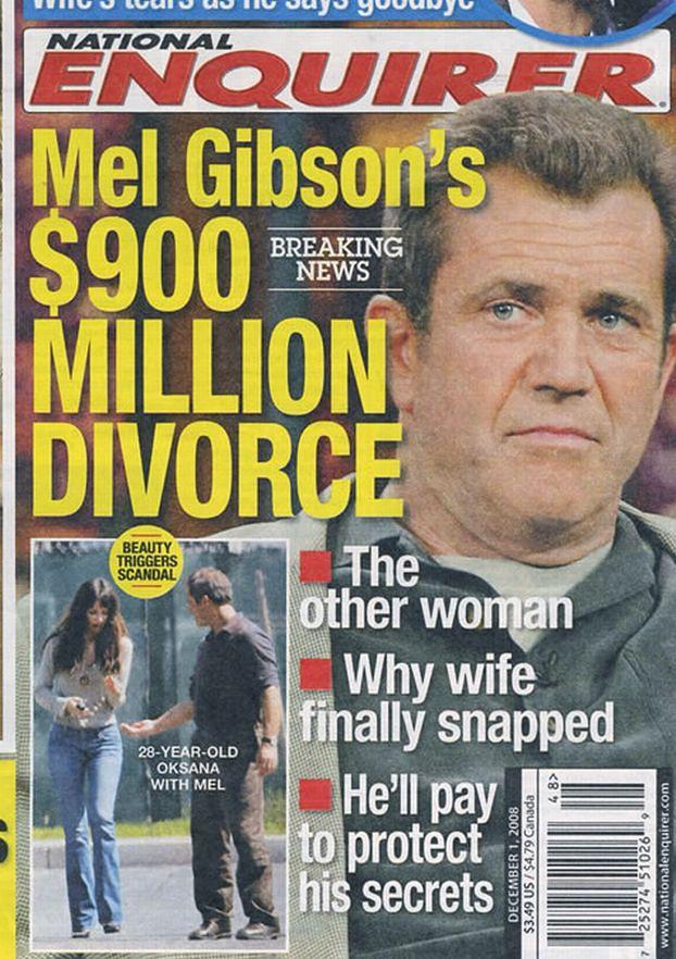 Żona Gibsona dostanie 450 milionów!