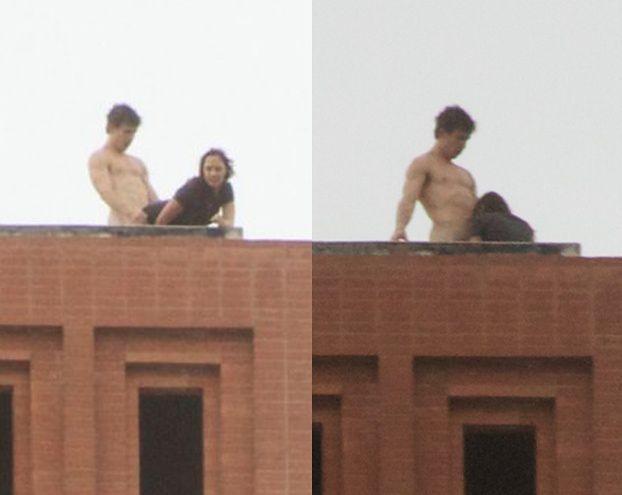 Studenci uprawiają seks na dachu! (HIT INTERNETU!)