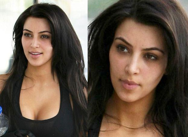 Kim Kardashian bez makijażu!