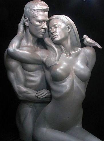 Rzeźba Angeliny i Brada!