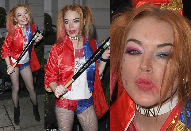 Lindsay Lohan jako Harley Quinn idzie do nocnego klubu (FOTO)
