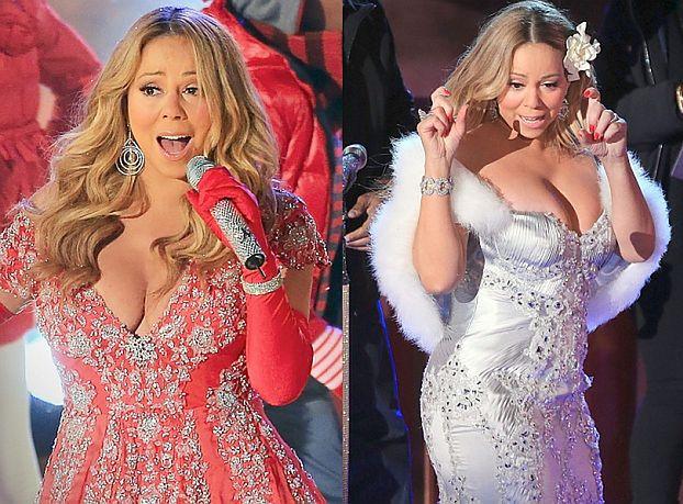 """""""Świąteczny"""" biust Mariah Carey (ZDJĘCIA)"""