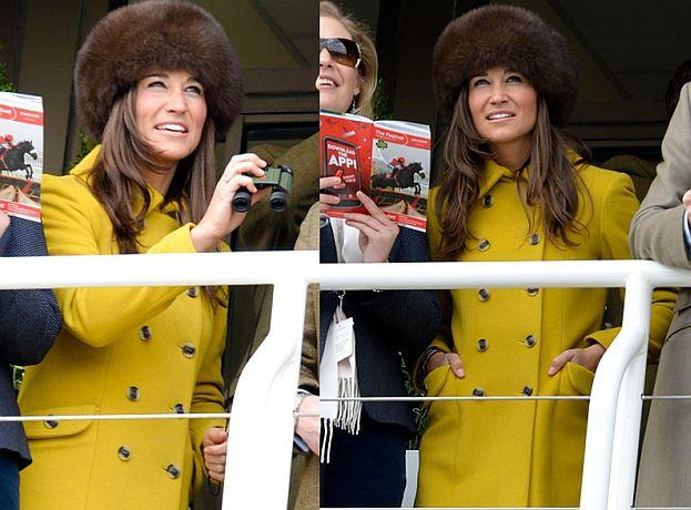 Pippa w futrzanej czapie...