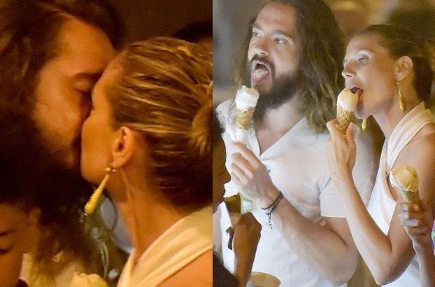 Zakochani Heidi Klum i Tom Kaulitz wymieniają pocałunki we włoskiej lodziarni (FOTO)