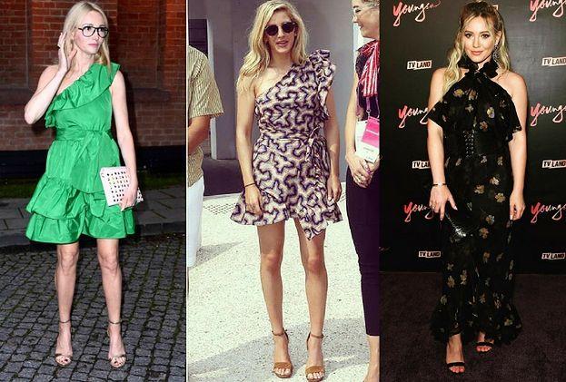 Sukienki z falbaną nie tylko dla dziewczynek - jakie noszą celebrytki?