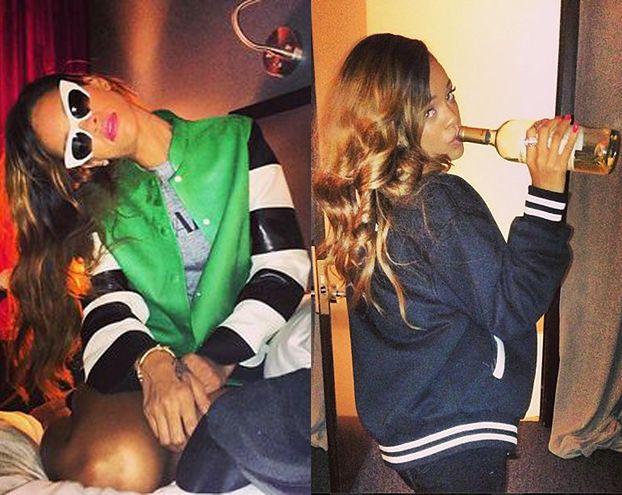Rihanna PIJE WINO Z GWINTA... (FOTO)