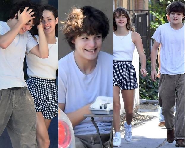17-letni syn Vanessy Paradis i Johnny'ego Deppa uśmiecha się nieśmiało na randce z dziewczyną