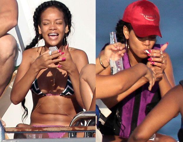 Rihanna w bikini na jachcie (ZDJĘCIA)