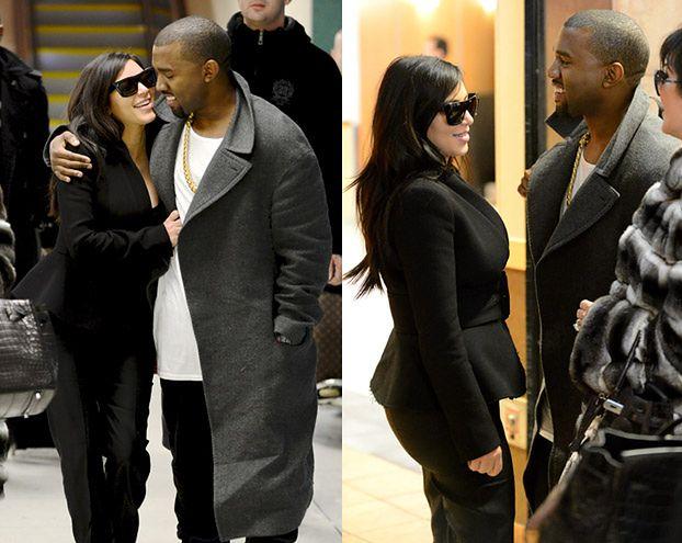 Uśmiechnięta Kim w ramionach Kanye! (FOTO)