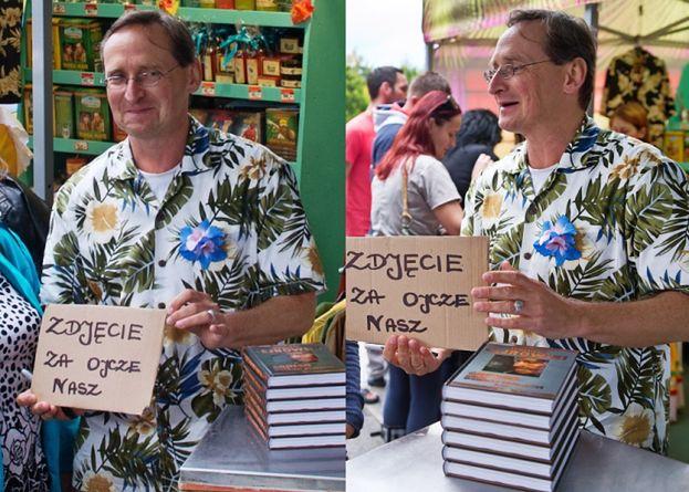 """Cejrowski """"sprzedaje"""" swoje zdjęcia za... Ojcze Nasz"""