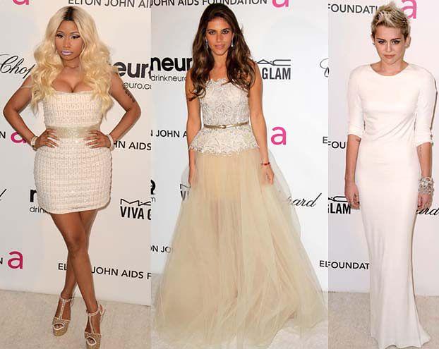 Rosati, Miley i Minaj na imprezie Eltona Johna! (ZDJĘCIA)