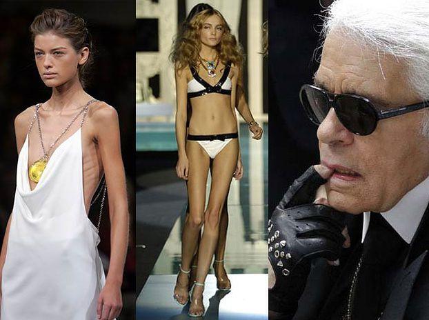 """Lagerfeld: """"Świat mody nie promuje anoreksji"""""""