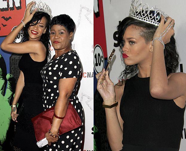 """""""Królowa"""" Rihanna z mamą na Halloween"""