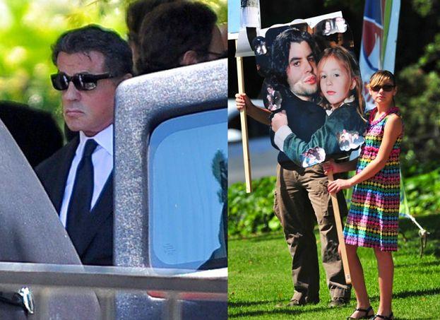 Stallone na pogrzebie syna (ZDJĘCIA)