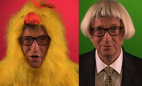 Bill Gates przebrał się za kurczaka!