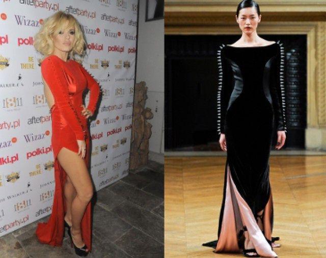 """Tak Doda """"ZAPROJEKTOWAŁA"""" swoją sukienkę... (Porównajcie!)"""