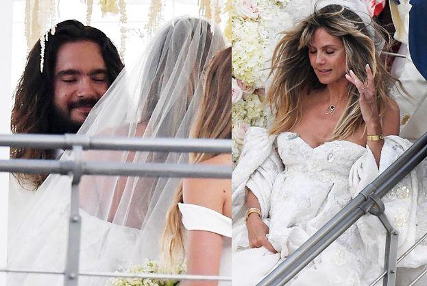 Bajkowy ślub Heidi Klum i Toma Kaulitza: luksusowy jacht, bose stopy i kwietne girlandy (FOTO)