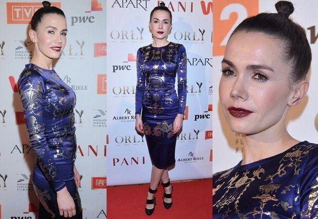 Olga Bołądź w obcisłej sukience na rozdaniu Orłów!