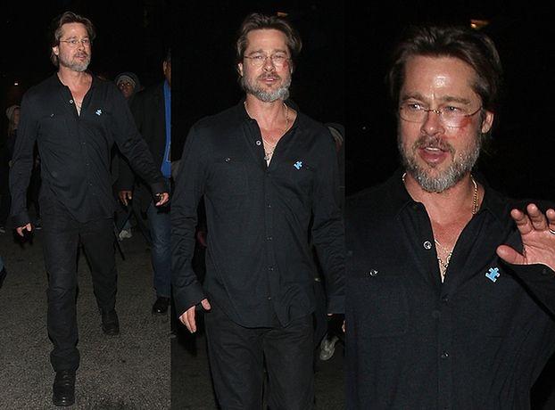 Brad Pitt z raną na policzku! (ZDJĘCIA)