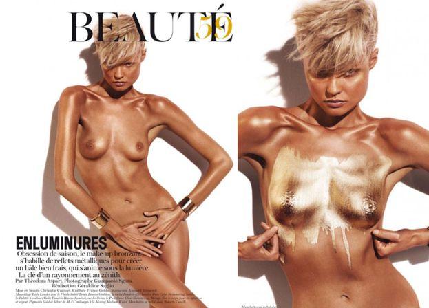 "NAGA FRĄCKOWIAK we francuskim ""Vogue'u"" (FOTO)"