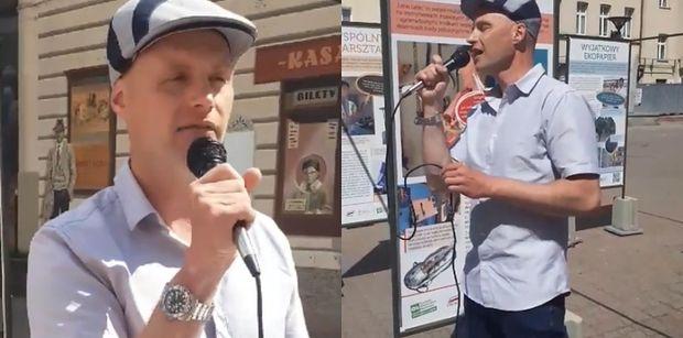 Syn Krzysztofa Krawczyka śpiewa NA ULICY piosenki ojca!