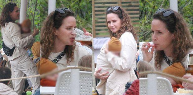 Monika Mrozowska świętuje 41. urodziny z koleżankami w smażalni ryb (ZDJĘCIA)