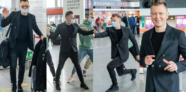 """Eurowizja 2021. Rafał Brzozowski tańczy i podśpiewuje """"The Ride"""" tuż przed odlotem do Rotterdamu (ZDJĘCIA)"""
