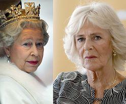 """Księżna Camilla zaatakowała królową Elżbietę?! """"Rzuciła w nią kieliszkiem czerwonego wina"""""""