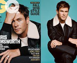 """Chris Hemsworth łapie się za głowę na okładce """"GQ"""""""