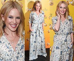 50-letnia Kylie Minogue flirtuje z obiektywami na promocji musicalu