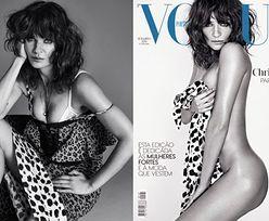 "47-Helena Christensen nago na okładce ""Vogue'a"""