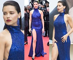 "Cannes 2019: ""Drapieżna"" Adriana Lima kusi w cekinach od Michaela Korsa"