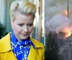 """Pożar katedry Notre Dame. Małgorzata Kożuchowska komentuje, odpowiada jej... Andrzej Duda: """"Łączę się z Panią serdecznie w żalu"""""""
