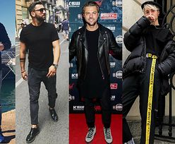 Z czym celebryci łączą czarny T-shirt?