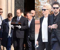 Rodzina i przyjaciele na pogrzebie Marcina Wrony
