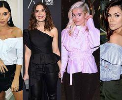 Bluzki z falbanką wciąż na czasie - jakie wybierają celebrytki?