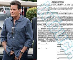 Do sieci trafił... SEKS-KONTRAKT, który Charlie Sheen kazał podpisywać kochankom!