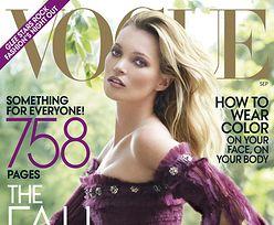 Ślubna sesja Kate Moss! (W SUKNI OD FASZYSTY)