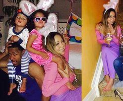 Mariah przebrana za króliczka z mężem i dziećmi (FOTO)