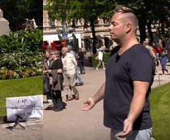 Chory na HIV prosił ludzi, żeby go dotknęli... Zobaczcie, jak zareagowali!