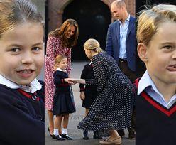 Kate i William odprowadzają onieśmieloną księżniczkę Charlotte i księcia George'a do szkoły (FOTO)